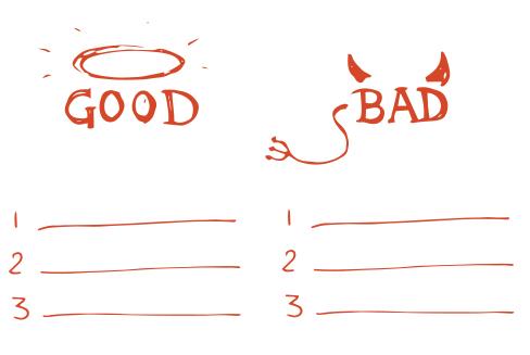 3 Good 3 Bad